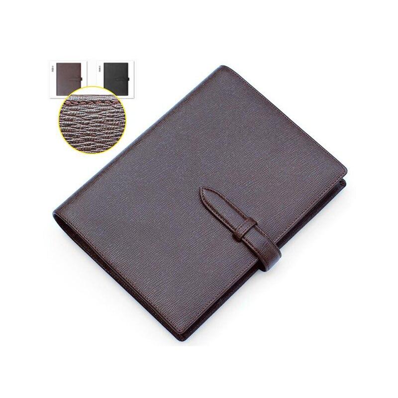 Classeur de luxe A5 à feuilles mobiles en cuir véritable Logo personnalisé bricolage cahier quotidien en cuir de vachette journal à spirale bloc-notes avec anneaux