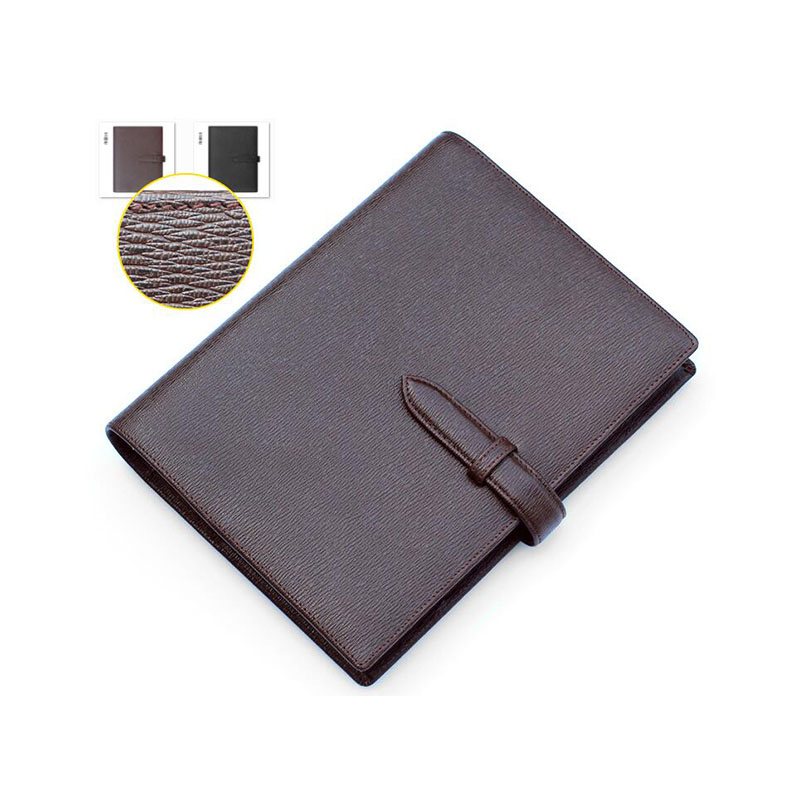 Luxury A5 Loose leaf Planner Binder Genuine Leather Logo Custom DIY Notebook Daily Cowhide Spiral Diary Notepad with Rings custom coil notebook spiral notepad personalized customized picture photo logo
