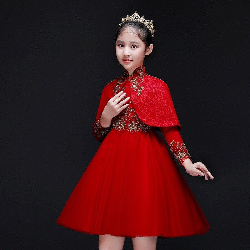 pageant vestidos Longos Vestidos Da Menina de Flor Para O Casamento