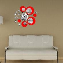 New Arrival Modern Large Wall Clock Living Room Sofa Backdrop Wall Clocks DIY 3D Mirror Wall Stickers DIY Install Decor Clocks