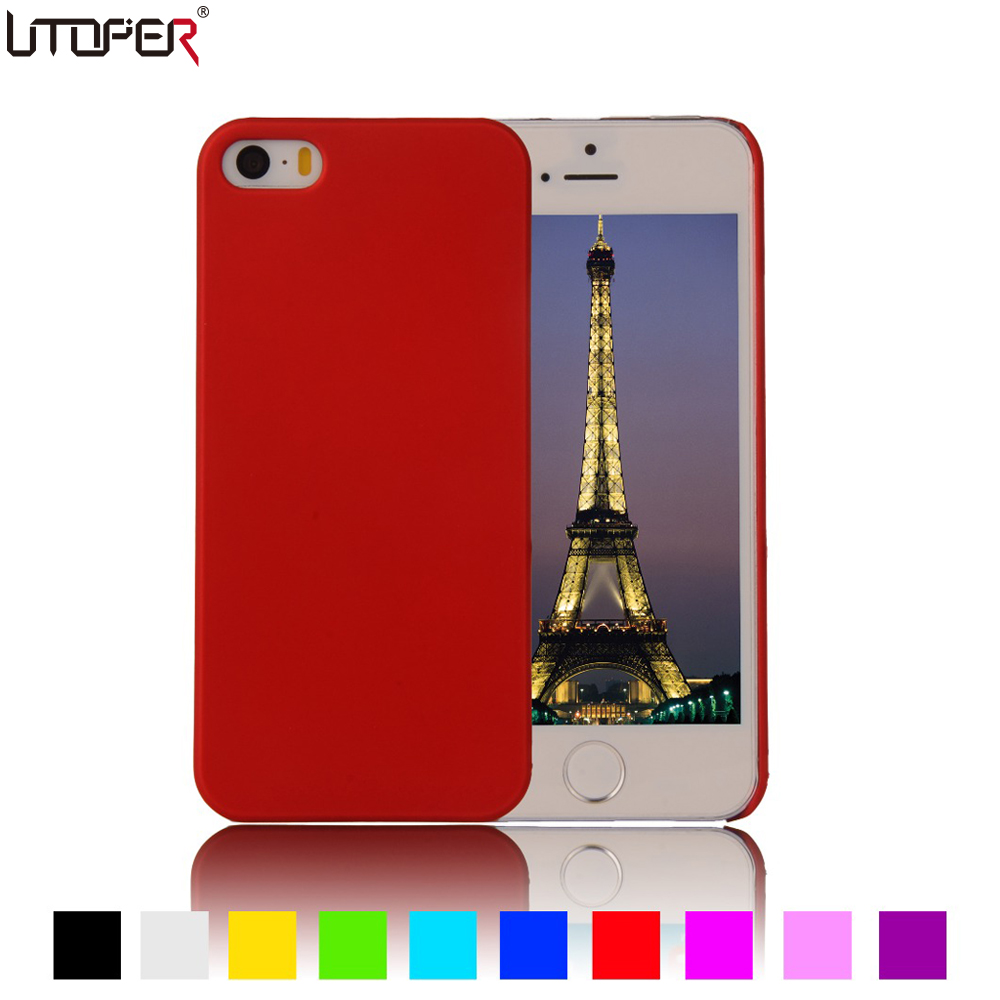 For Apple iPhone 5 Case Anti-skid Hard Coque For iPhone 5 iphone 5s Case Matte Plastic Phone Back Protective For iphone SE Cover