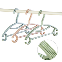10Pcs Plastic Hangers Creative Nordic Color Kids Adult Clothes Non-Slip Arc Hook Racks Wardrobe Hanging Space Saving Dry Hanger