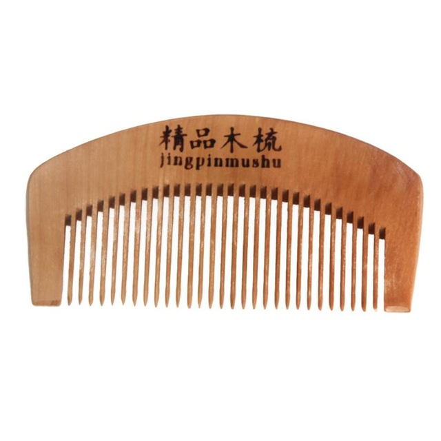 100% High Quality Natural Health Peach Wooden Mahogany Comb Present Comb No Electrostatic Party Gifts Wedding Decoration