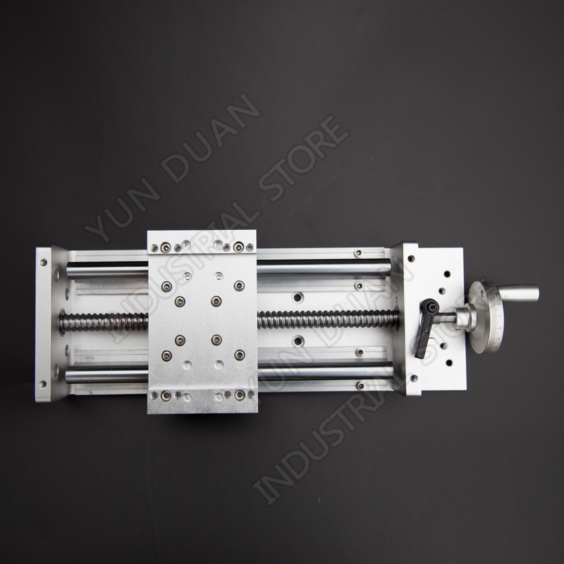 "800MM Stroke 31"" Manual Sliding Table Heavy Load Precision Slide Linear Stage SFU1605 C7 Ball Screw SBR Guide Platform"