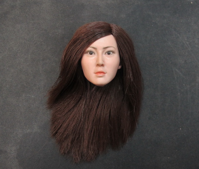 ФОТО cian-t0015a/b 1/6 asian beauty head shape refinement headsculpt for diy 12inch doll parts