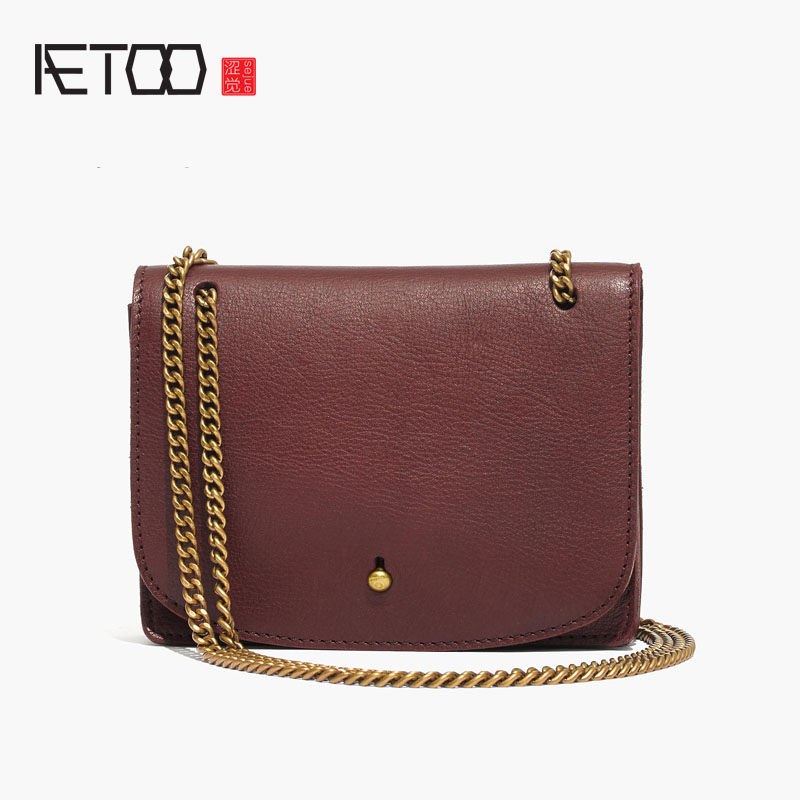 AETOO Ladies retro first layer of leather chain Messenger bag зеркало заднего вида airline amr 03