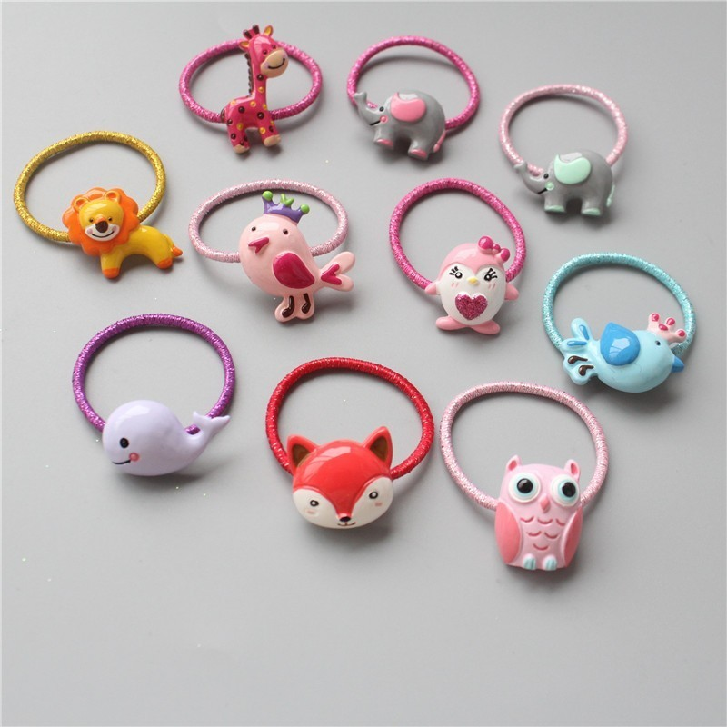 1PCS Cute Cartoon Bird Lion Elephant Princess   Headwear   Kids Elastic Hair Bands Baby Headdress Children Ropes Girls Accessories