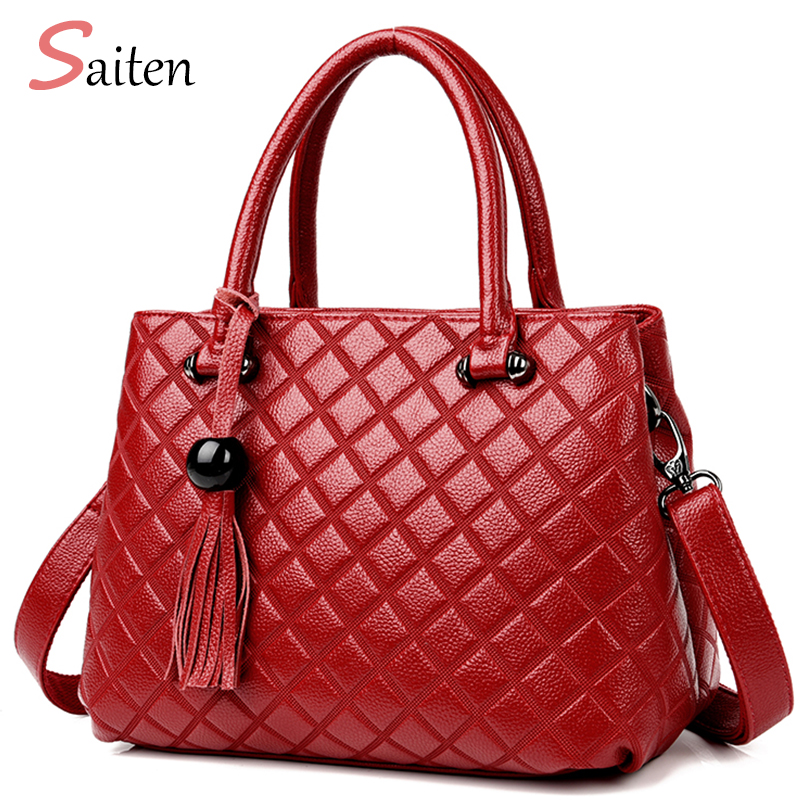 2017 Women Bag Famous Brand Ladies Hand Bags PU Leather Casual Tote Shoulder Bags Sac New Fashion Luxury Handbags Large Tote Bag ...