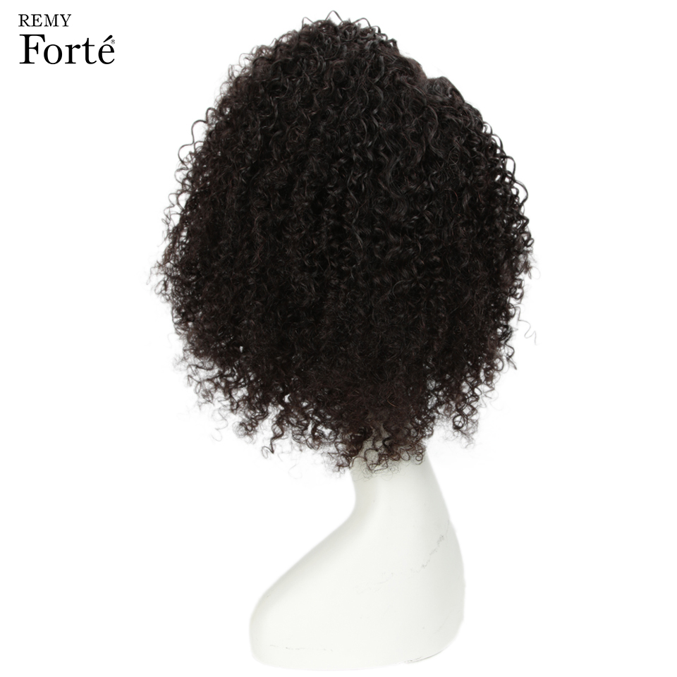 Image 4 - Remy Forte Lace Human Hair Wigs Curly Short Human Hair wig 100% Remy Brazilian Hair Wigs For Women U Part Kinky Curl Lace Wigs-in Human Hair Lace Wigs from Hair Extensions & Wigs