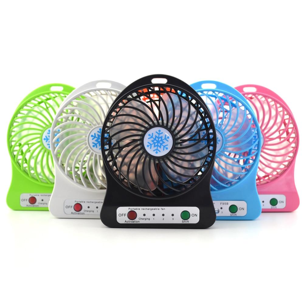 5 ensembles 2017 Portable Refroidisseur De Refroidissement Petit Mini usb Fan LED Lumières Gadgets Ventilateurs powerbank Ordinateur Portable Bureau Bureau PC