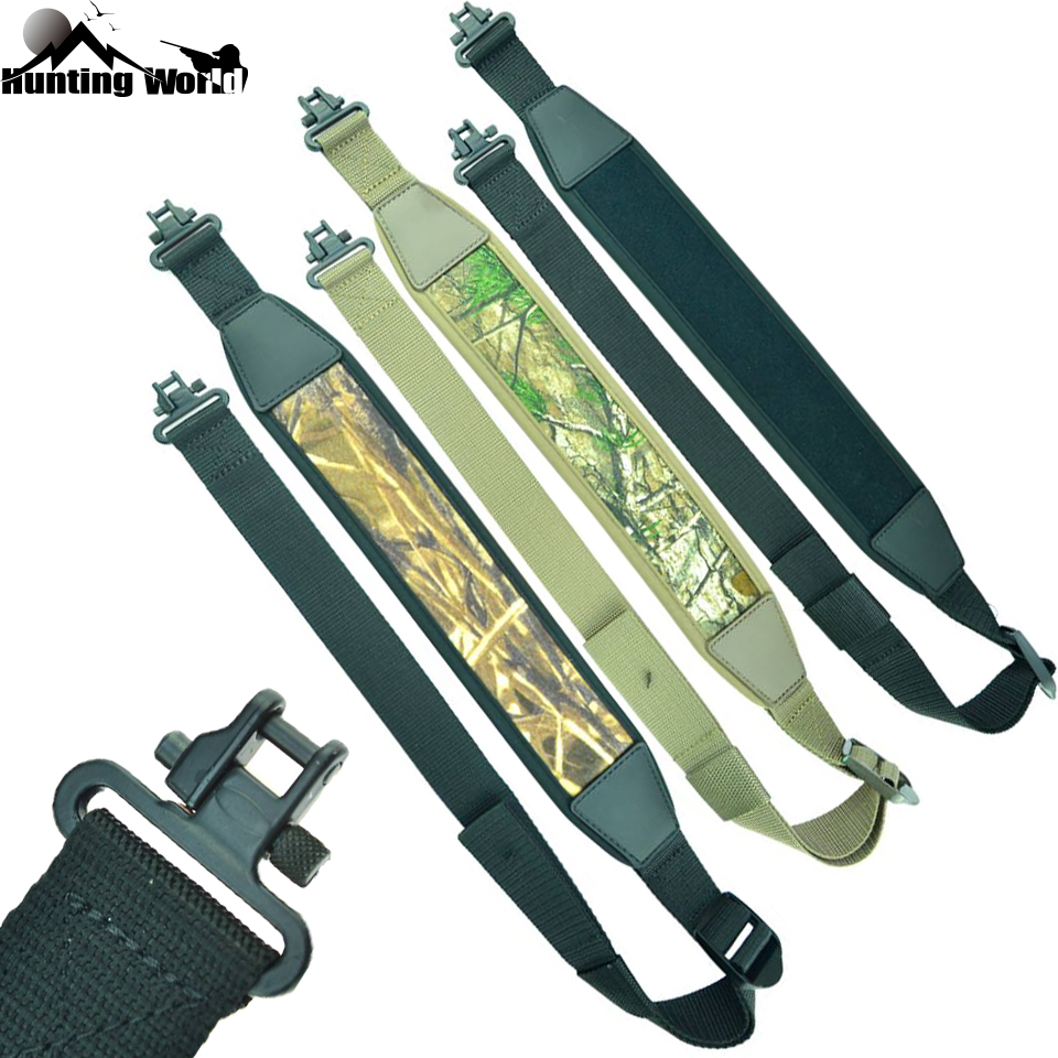 "Tactical Adjustable Gun Rifle Shotgun sling with 1.25"" Quick Detach Sling Swivels Gun shoulder Belt Strap for Airsoft Hunting"