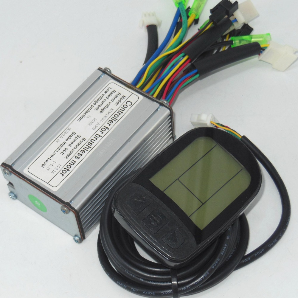 Brushless Motor Controller Brake Lever For Scooter Kt Lcd3 Powerful Wiring Diagram 300v Electric Motorcycle 36v 48v 180 250w 14 18amax Dc Ebike Lcd5 Kunteng Lcd
