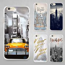 New York City Hard White Cell Phone Case Cover for Apple iPhone 4 4s 5 5C SE 5s 6 6s 7 Plus