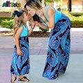 Мать дочь платья Лоскутное Семьи соответствующие наряды Про девочку одежды Старинные Семейные смотри мама мама мама и я Мода