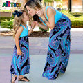 Vestidos mãe filha Família Patchwork correspondência Nmd outfits Bebê roupas de menina Do Vintage olhar Família mamãe mamãe mamãe e me Moda