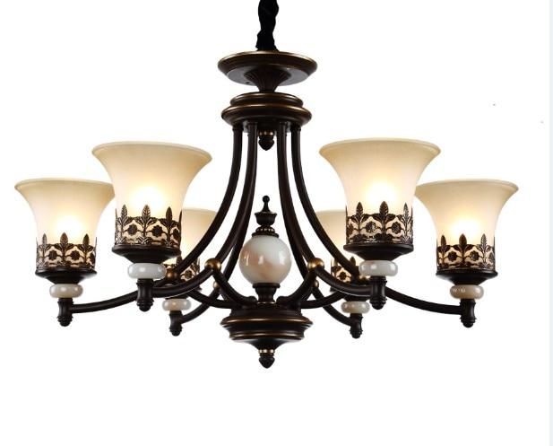 Iron Chandelier Luxury LED Chandeliers Vintage Lamps 6 8