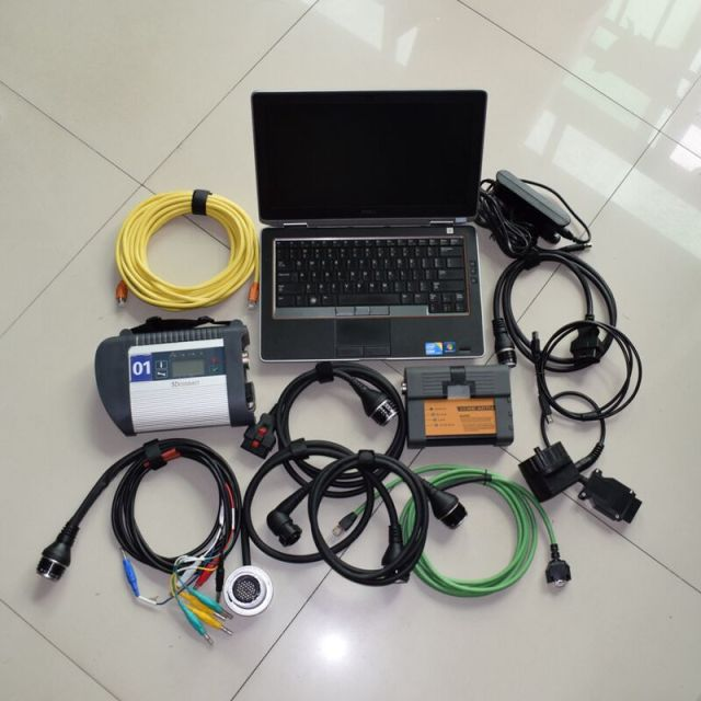 New Price 2IN1 diagnosis scanner for BMW ICOM A2 and sd connect c4 full software in 1TB SSD with e6420 i5 4gb laptop ready to use