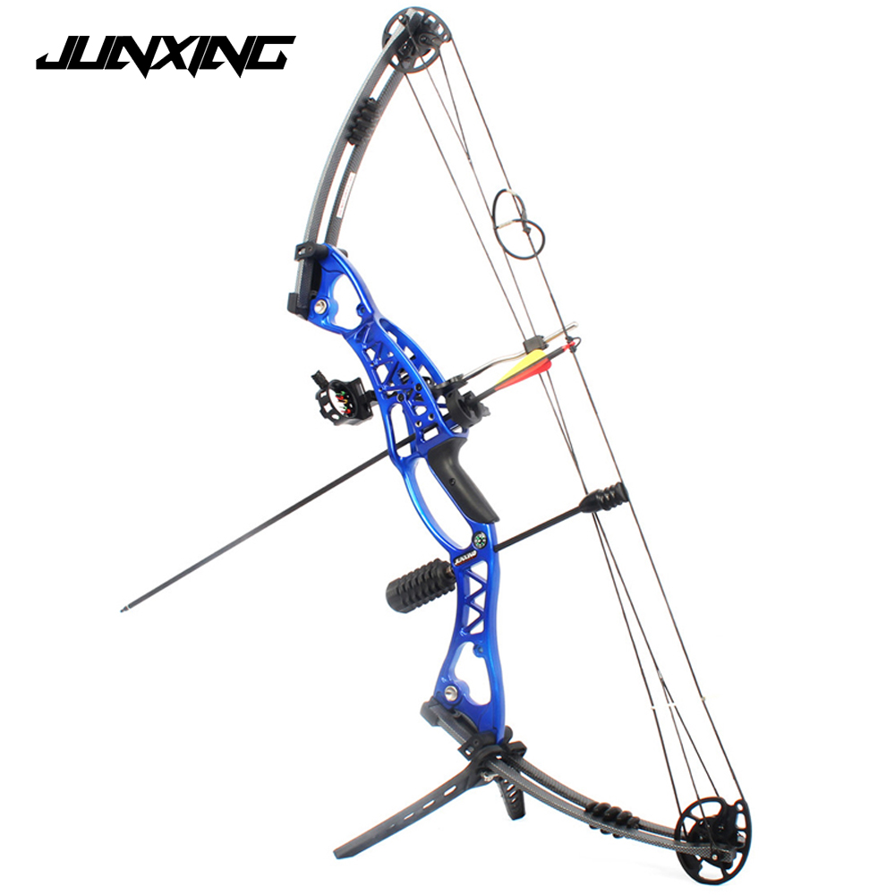 Hunting Archery Compound Bow 40-60lbs Aluminum Alloy Slingshot Bow with Peep Sight for Adult Hunter Outdoor Hunting Shooting