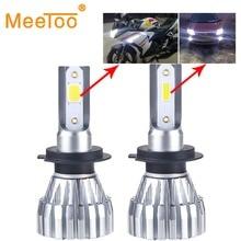 H7 светодиодный лампы безвентиляторный H4 светодиодный фар автомобиля Добролюбов УДАРА фишек 12 В H1 HB3 HB4 Bombillas светодиодный Авто 12000LM h3 H8 H9 H11 50 Вт 6500 К автомобиль лампы