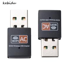 kebidu Wireless USB WiFi Adapter 600Mbps wifi Antenna Network Card Dual Band 2.4 5Ghz usb Lan Ethernet Receiver 802.11ac Wi-fi