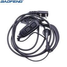 Original baofeng 2 pinos dupla ptt fone de ouvido para baofeng UV-82 UV-8D UV-82HP GT-5TP walie talkie rádio em dois sentidos uv 82