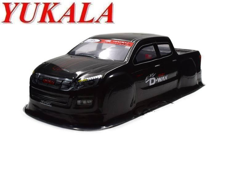 YUKALA 1/10 PVC peint corps shell pour 1/10 RC Monster Truck/big foot camion 94188 taille 430*185mm empattement 260mm