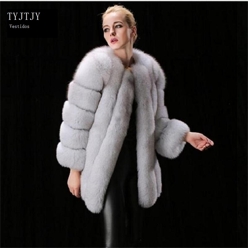 Online Get Cheap White Long Faux Fur Fox Coat -Aliexpress.com ...