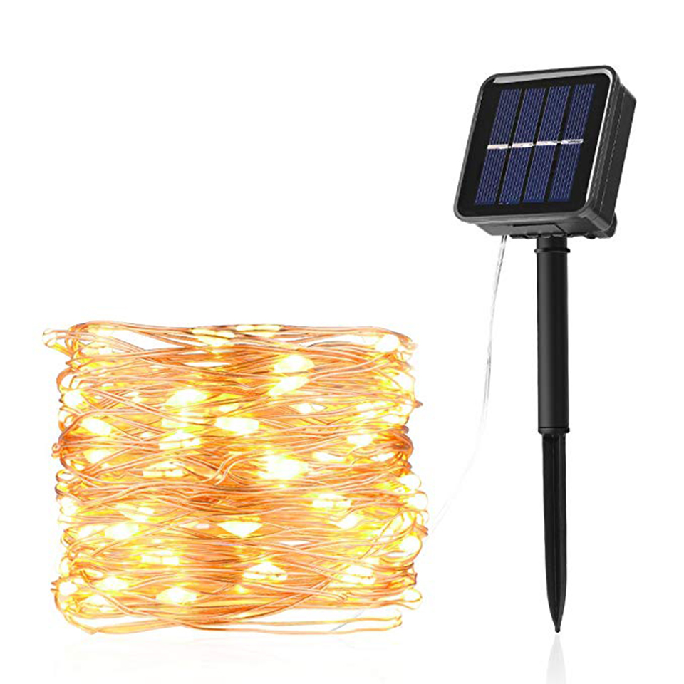 Xsky Garland LED String Light Solar Powered Lamp Waterproof Outdoor Fairy Lights For Holiday Christmas Wedding Party Decoration