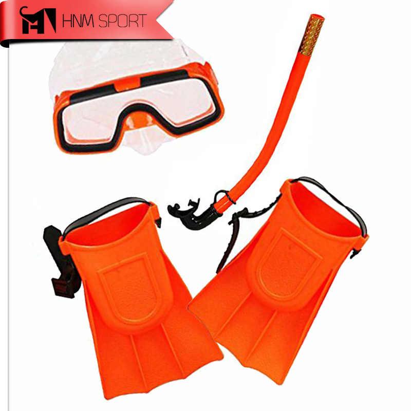 3 adet/grup Çocuk Silikon Şnorkel Maskesi Yüzme Dalış Sualtı Tüplü Maskeleri Şnorkel Dalış Yüzgeçleri Seti Çocuklar dalış ekipmanları