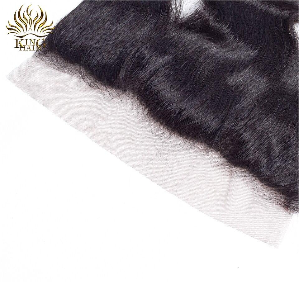 Քինգի մազերի ժանյակ առջևի պերուական - Մարդու մազերը (սև) - Լուսանկար 5