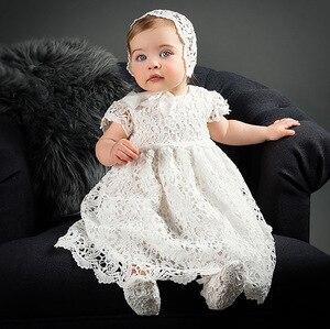 Платья для девочек на 1 год рождения, платья для крещения, платья для крестин, кружевные платья для свадебной вечеринки, платья для новорожде...