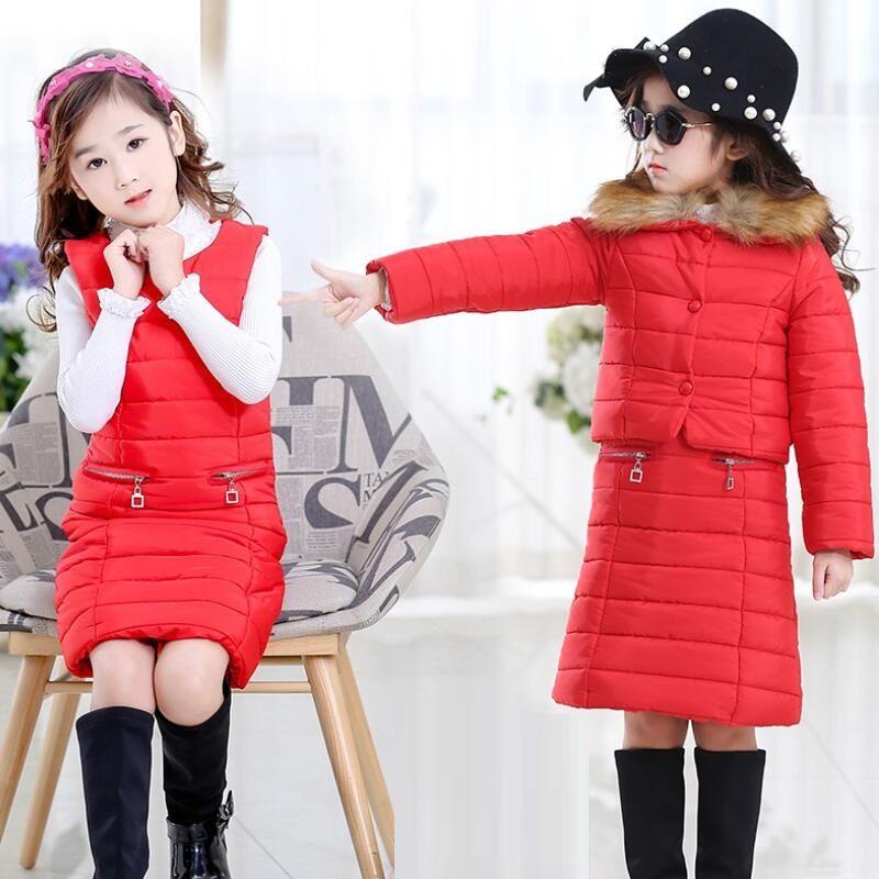 2019 New Arrive Baby Girls Boys Winter Down Sets Jacket Pants Kids Clothing Suits set children