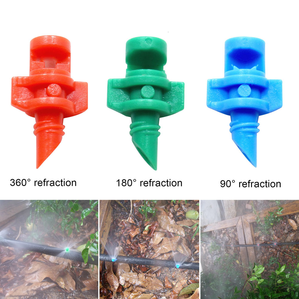 100 Pcs Micro Sprayer Nozzles for Hydroponic Garden Plant Lawn Irrigation Replacement Jet Mister J2Y