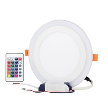 LED Panel light Recessed Kitchen Bathroom Lamp 120V/240V 12W/6W Round LED Ceiling With remote control 50/60HZ