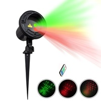 Christmas Laser Light Outdoor Garden Decoration IP65 Waterproof Remote Control Laser Star Projector Red Green Light