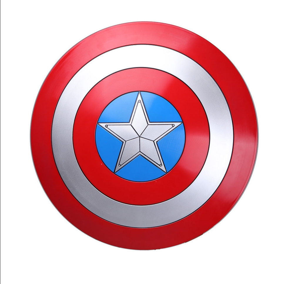 22.5 inch Captain America Shield 1:1 Steve Rogers ABS Plastic Shield Movie Cosplay Halloween Gift Prop Drop ship