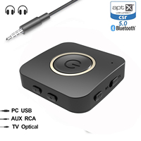 2 in 1 3.5mm Aux Bluetooth Transmitter Receiver Bluetooth 5.0 aptX HD aptX LL Low Latency Audio Receiver for TV/PC/Car/Speaker