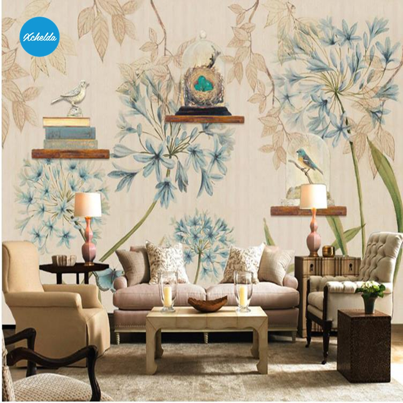 XCHELDA Custom 3D Wallpaper Design Dandelion Photo Kitchen Bedroom Living Room Wall Murals Papel De Parede Para Quarto xchelda custom modern luxury photo wall mural 3d wallpaper papel de parede living room tv backdrop wall paper of sakura photo