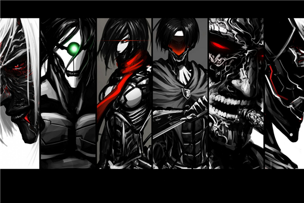 Us 103 20 Offfree Shipping Fashion Wallpaper Custom Attack On Titans Canvas Posters Shingeki No 2 Wall Stickers Home Decoration Pn177 In Wall
