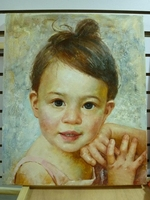 Portrait oil painting one person, Artist custom painted from your photograph in different sizes painted on canvas