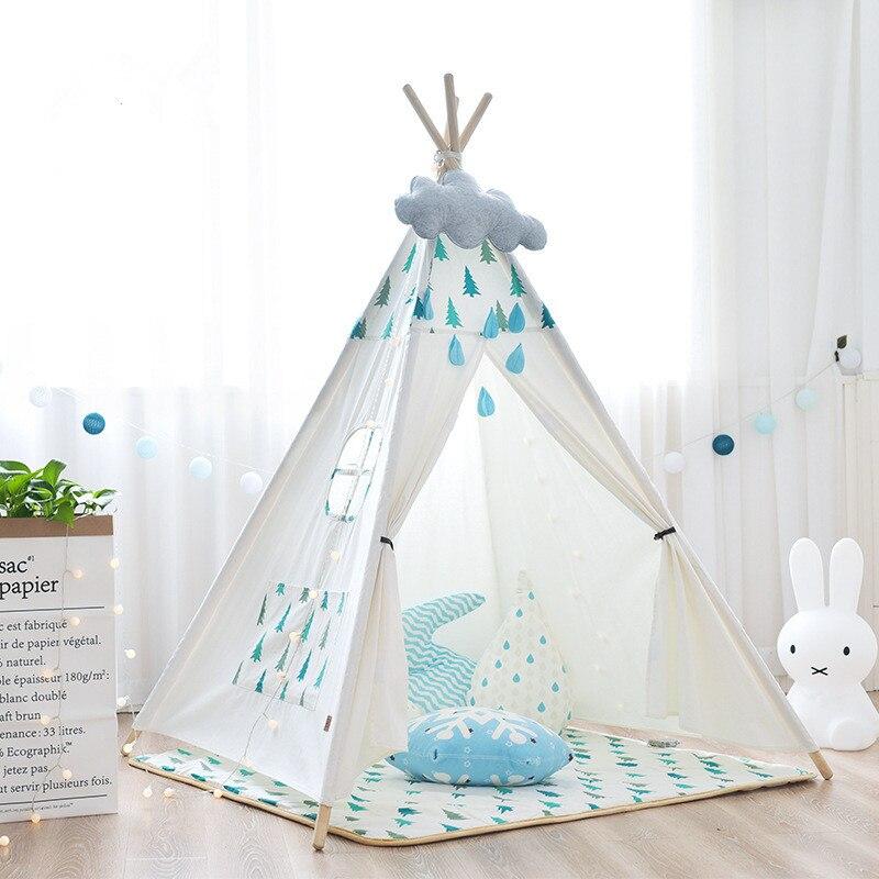 Les enfants d'intérieur de toile de coton pur jouent la tente de tipi
