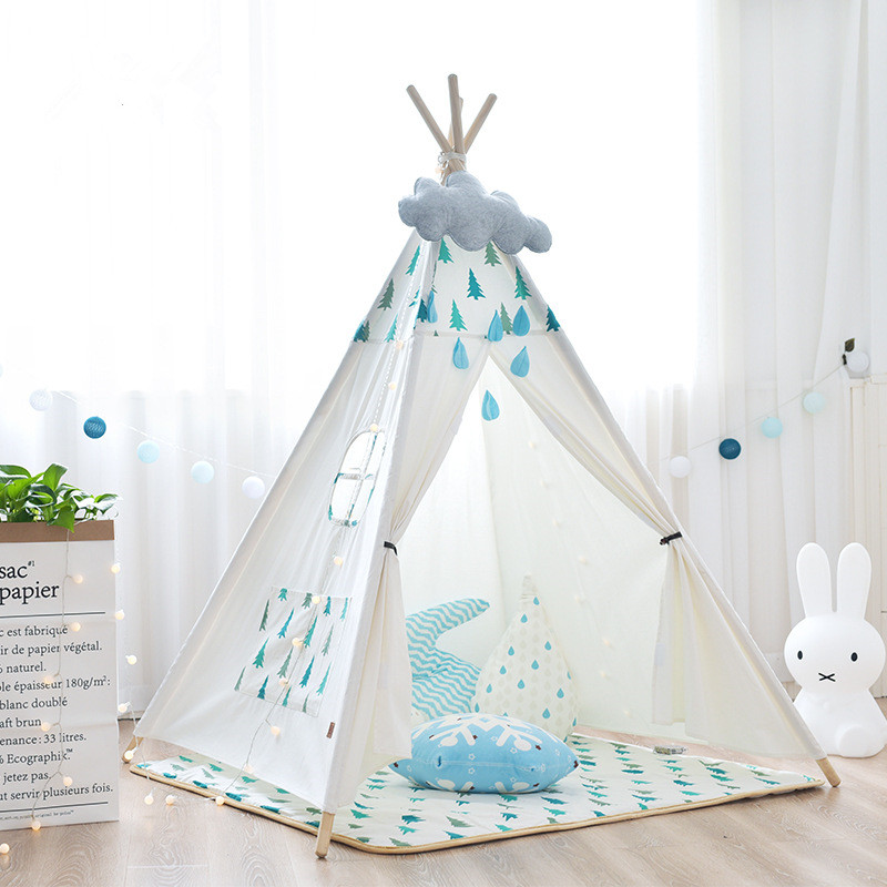 Pure Cotton Canvas Indoor Kids Play Teepee Tent Chidren Indian Wigwam TentPure Cotton Canvas Indoor Kids Play Teepee Tent Chidren Indian Wigwam Tent