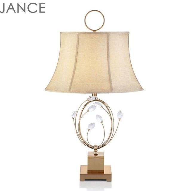 American Crystal Table Lamp Creative Hotel Sample Room Living Room  Postmodern Neo Classic Designer Iron