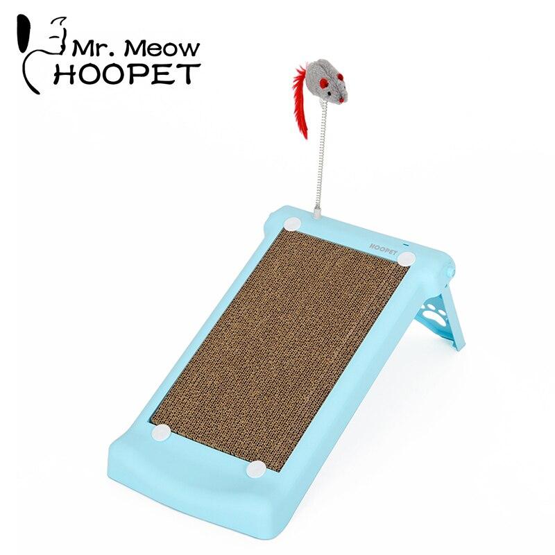 Hoopet chat ondulé panneau à gratter tapis souris griffes à gratter soin interactif jouet pour animal de compagnie chat formation Rat jouet