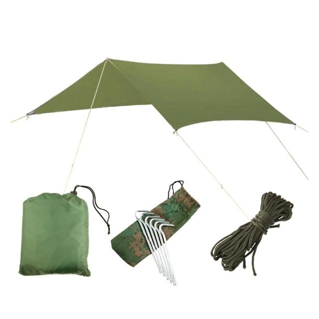 3mx3m Beach UV Protection Sun Shelter Waterproof Tent Shade UV Garden Awning Canopy Sunshade Outdoor Camping Hammock Rain Fly