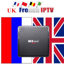 French Android Smart 4K UHD TV Box Arabic IPTV Subscription 8G ROM H.265 USA UK Live VOD m3u smart tv IPTV TV box+V96s Tv box