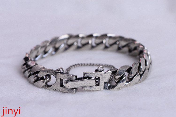 KJJEAXCMY Fine jewelry S925 security chain men's personality overlord silver chain