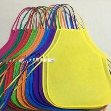 Разноцветные Детские передники унисекс из водонепроницаемого нетканого материала, фартук для рисования, Детский фартук для занятий искусством, класс крафт