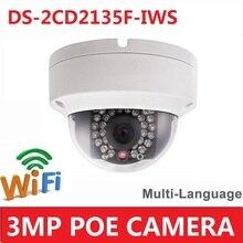 DS-2CD2135F-IWS 3MP Multi-idioma Mini Seguridad de la Bóveda Cámara IP Inalámbrica WiFi IR 30 M Onvif/PoE REEMPLAZAR DS-2CD2132F-I