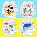 Niño niños Ropa de Bebé Niñas niños Ropa de Niña de Dibujos Animados de Impresión de Manga Larga Camisetas Blusa Ocasional Tops ropa Para Niños